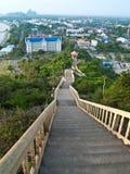 Treppenhaus zu Khao Chong Krachok Stockfoto