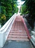 Treppenhaus zum buddhistischen Tempel Lizenzfreie Stockbilder