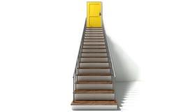 Treppenhaus, zum der Tür gelb zu färben Lizenzfreies Stockbild