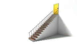 Treppenhaus, zum der Tür gelb zu färben Lizenzfreie Stockfotografie