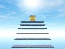 Treppenhaus zum Himmel Lizenzfreie Abbildung