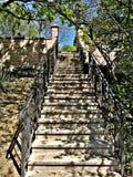Treppenhaus zum Himmel Botanischer Garten Budapests ist sehr schöner Platz Dieser Bereich ist in dem XI bezirk stockfoto