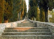 Treppenhaus zum Himmel in Kroatien lizenzfreies stockfoto