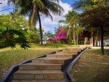 Treppenhaus zum im Garten zu arbeiten Lizenzfreies Stockbild