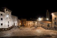 Treppenhaus zum Kathedralen-Quadrat in Girona Lizenzfreies Stockbild