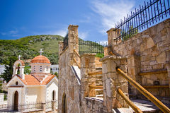 Treppenhaus zum Kloster Stockbild