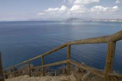 Treppenhaus zum Meer Lizenzfreies Stockbild