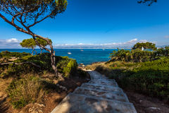 Treppenhaus zum Strand lizenzfreie stockbilder