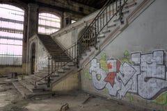 Treppenhaus zum Strom Stockfotografie