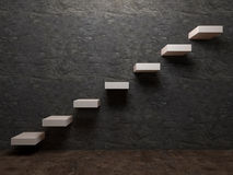 Treppenhaus zur Erfolgsinnenraumperspektive Stockfotos