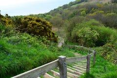Treppenhaus zur Landschaft stockfotos