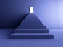 Treppenhaus zur Leuchte Lizenzfreies Stockbild