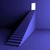 Treppenhaus zur Leuchte Stockbilder