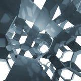 Treppenhausarchitektur in der futuristischen Zusammensetzung Stockfotografie