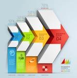 Treppenhausdiagramm-Geschäftswahlen des Pfeiles 3d. Lizenzfreie Stockfotos
