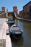 Trepponti Brücke. Comacchio. Emilia-Romagna. Italien Stockbild