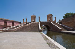 Trepponti bridge. Comacchio. Emilia-Romagna. Italy Royalty Free Stock Image