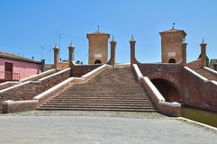 Trepponti Bridge. Comacchio. Emilia-Romagna. Italy. Stock Photo