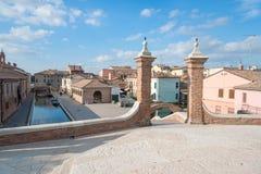 Trepponti- Comacchio, Italien Stockfotos