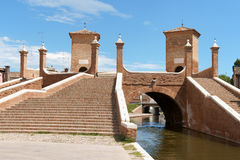 Trepponti in Comacchio, Italy Royalty Free Stock Photos