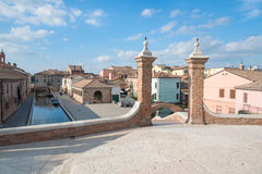Trepponti- Comacchio, Italy Stock Photos