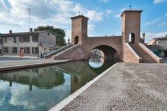 Trepponti- Comacchio, Italy Royalty Free Stock Photos