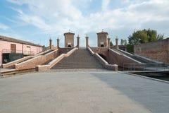 Trepponti- Comacchio, Italy Royalty Free Stock Image