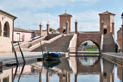 Trepponti- Comacchio, Italy Royalty Free Stock Photography
