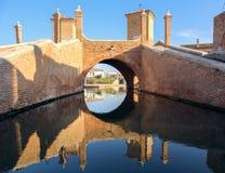Trepponti Valli di Comacchio Ferrara Emilia Romagna Italia foto de archivo libre de regalías