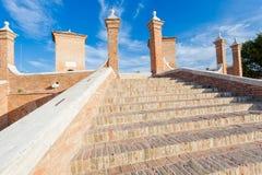 Treppontibrug in Comacchio, Ferrara, Italië Stock Fotografie