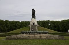 Treptower park. Is a park along the river Spree in Alt-Treptow Royalty Free Stock Photography