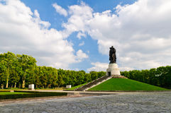 Treptower park in Berlin Stock Image