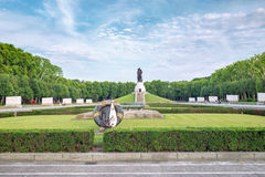 Treptower park in Berlin. Statue in Treptower park, Soviet War Memorial, Berlin, Germany Stock Photography