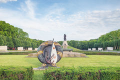 Treptower park in Berlin on summer day. Treptower park, Soviet War Memorial, Berlin, Germany Royalty Free Stock Images