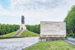 Treptower park in Berlin on summer day Stock Photography