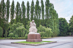 Treptower park. Mother Russia in Treptower park, Soviet War Memorial, Berlin, Germany Stock Image