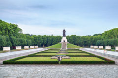 Treptower park. Wide angle view of Treptower park with soldier statue, Soviet War Memorial, Berlin, Germany Royalty Free Stock Photography
