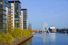 The Treptowers and Molecule men Royalty Free Stock Images