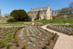 Trerice House Newquay Cornwall England UK beautiful Elizabethan manor house and gardens in sunny spring weather Royalty Free Stock Image
