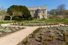 Trerice House Newquay Cornwall England UK beautiful Elizabethan manor house and gardens in sunny spring weather Royalty Free Stock Photo