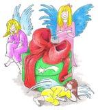 Tres ángeles stock de ilustración