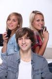 Tres adolescentes Foto de archivo libre de regalías