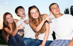 Tres adolescentes jovenes felices Fotos de archivo libres de regalías