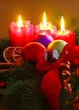 Tres Advent Candles Fotografía de archivo
