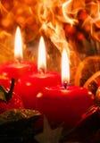 Tres Advent Candles Imagen de archivo