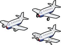 Tres aeroplanos Fotos de archivo libres de regalías