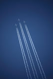 Tres aeroplanos en la formación Fotografía de archivo libre de regalías