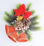 Tres alarmas de la Navidad rojas Imagen de archivo libre de regalías