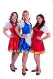 Tres alemanes/mujeres bávaras Imágenes de archivo libres de regalías