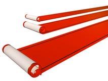 Tres alfombras rojas Imagen de archivo libre de regalías